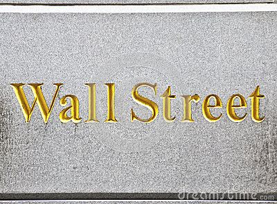Wall Street road sign