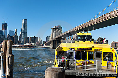 New York City water taxi Editorial Image