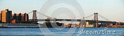 New York City Williamsburg Bridge panorama
