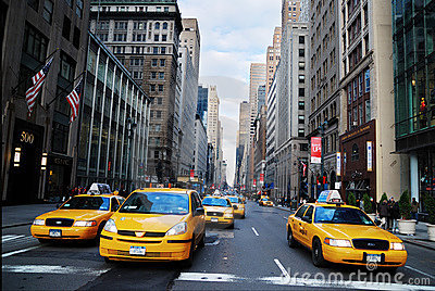 New York City Yellow Cab taxi Editorial Stock Photo