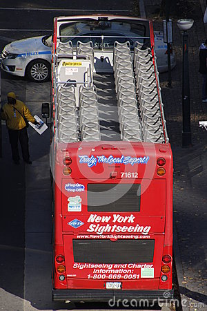 New York double decker Editorial Stock Photo