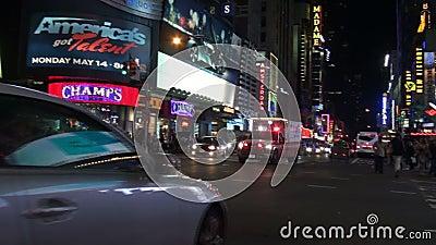 New York FDNY ambulance on Manhattan street with sound signal stock video footage
