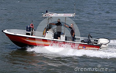 New York Fire Department Boat Editorial Photo