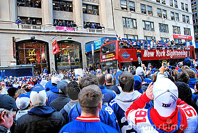 New York Giants Fan Editorial Photography