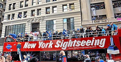 New York Giants Victory Parade Editorial Image