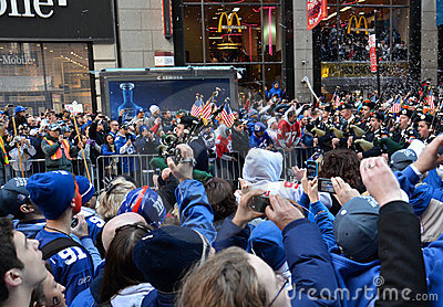 New York Giants Victory Parade Editorial Stock Photo