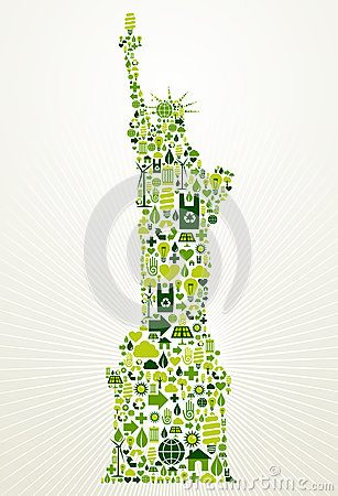 New York go green concept illustration