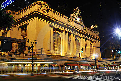 New York Grand Central at night Editorial Stock Image
