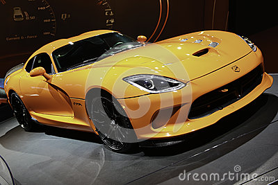 2014 SRT Viper TA showcased at the New York International Auto Show Editorial Image