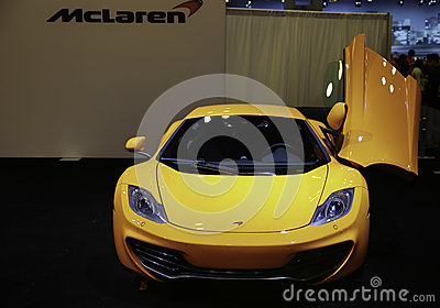 McLaren 12C CAN-AM EDITION showcased at the New York Auto Show Editorial Stock Photo