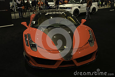 Mansory Ferrari 458 Italia showcased at the New York Auto Show Editorial Photography