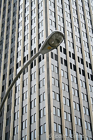 New York lamp post and Building