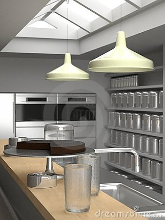 New York loft kitchen close-up