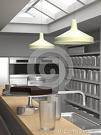 New York loft kitchen close-up