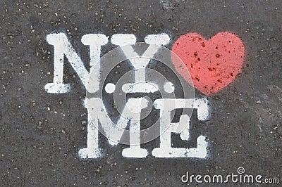 New York loves me stencil