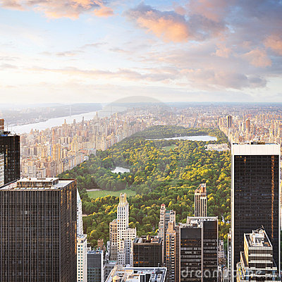 Free New York Manhattan At Sunset - Central Park View Stock Images - 14487424