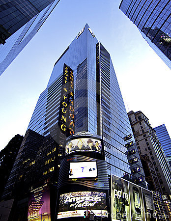 New York Manhattan Big Accounting Firm Editorial Image