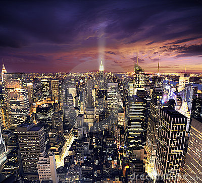 Free New York Manhattan From Birds Perspective Wiev Royalty Free Stock Photos - 12431938