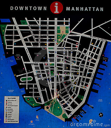 New york map Editorial Stock Photo