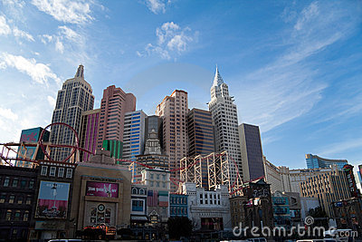 New York New York Hotel and Casino Editorial Photography