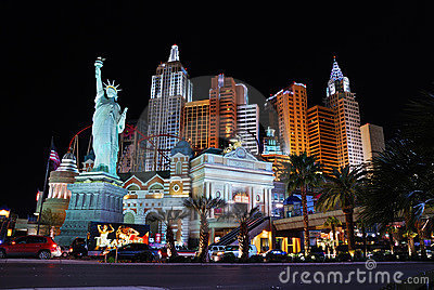New York New York Hotel Casino, Las Vegas. Editorial Image