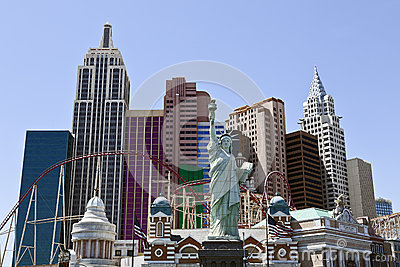 New York New York Hotel & Casino in Las Vegas Editorial Stock Image