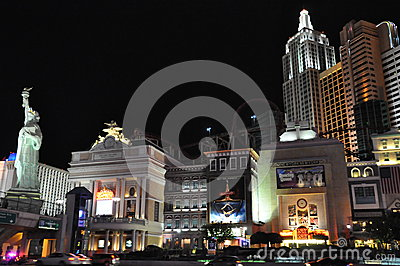 New York New York hotel-casino in Las Vegas Editorial Stock Image