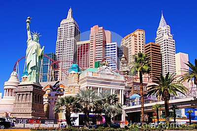 New York, New York, Las Vegas Editorial Stock Image
