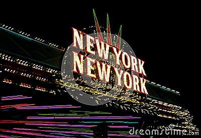 New York New York Neon Sign Las Vegas Strip Editorial #1: new york new york neon sign las vegas strip nevada august yorh hotel s