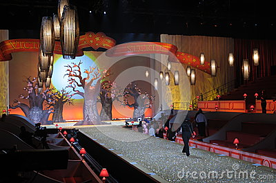 NEW YORK - NOVEMBER 10: Victoria s Secret stage getting ready before the 2010 Victoria s Secret Fashion Show