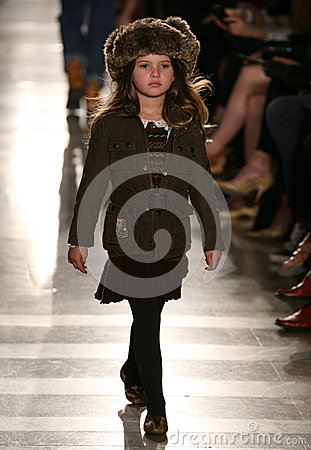Free NEW YORK, NY - MAY 19: A Model Walks The Runway At The Ralph Lauren Fall 14 Children S Fashion Show Stock Image - 40874901