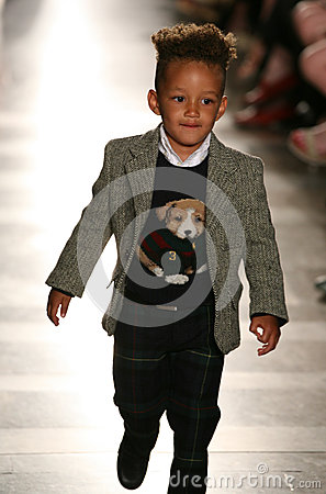 Free NEW YORK, NY - MAY 19: Egypt Dean Walks The Runway At The Ralph Lauren Fall 14 Children S Fashion Show Royalty Free Stock Photography - 40874887