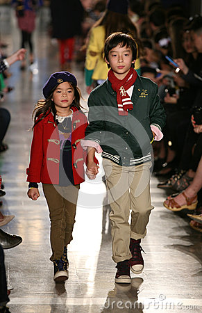 Free NEW YORK, NY - MAY 19: Models Walk The Runway At The Ralph Lauren Fall 14 Children S Fashion Show Stock Images - 40874884