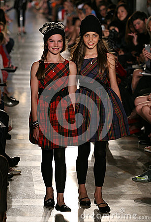 Free NEW YORK, NY - MAY 19: Models Walk The Runway At The Ralph Lauren Fall 14 Children S Fashion Show Stock Photography - 40874902