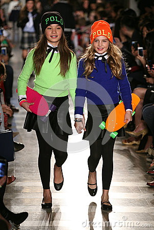 Free NEW YORK, NY - MAY 19: Models Walk The Runway At The Ralph Lauren Fall 14 Children S Fashion Show Royalty Free Stock Photo - 40874905