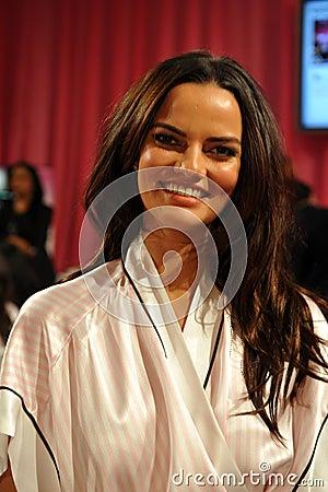 NEW YORK, NY - NOVEMBER 13: Model Barbara Fialho poses at the 2013 Victoria s Secret Fashion Show Editorial Photography