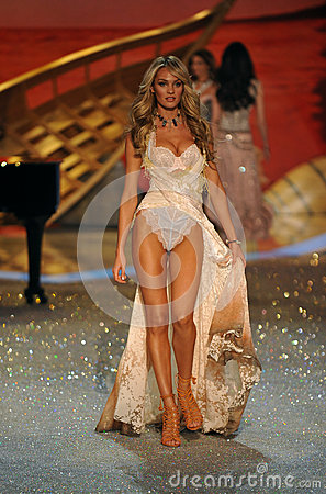 NEW YORK, NY - NOVEMBER 13: Model Candice Swanepoel walks the runway at the 2013 Victoria s Secret Fashion Show Editorial Photography