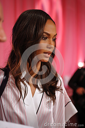 NEW YORK, NY - NOVEMBER 13: Model Cindy Bruna poses at the 2013 Victoria s Secret Fashion Show Editorial Stock Image