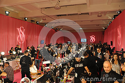 NEW YORK, NY - NOVEMBER 13: A view of atmosphere at the 2013 Victoria s Secret Fashion Show Editorial Photography