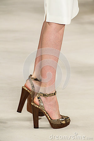 Free NEW YORK, NY - SEPTEMBER 11: A Model Walks The Runway At Ralph Lauren Spring 2015 Fashion Collection Royalty Free Stock Photo - 46529915