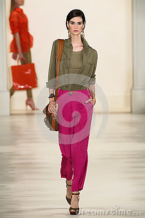 Free NEW YORK, NY - SEPTEMBER 11: A Model Walks The Runway At Ralph Lauren Spring 2015 Fashion Collection Royalty Free Stock Photography - 46529917