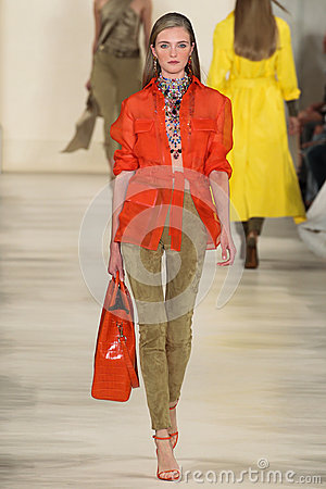 Free NEW YORK, NY - SEPTEMBER 11: A Model Walks The Runway At Ralph Lauren Spring 2015 Fashion Collection Stock Photography - 46529962