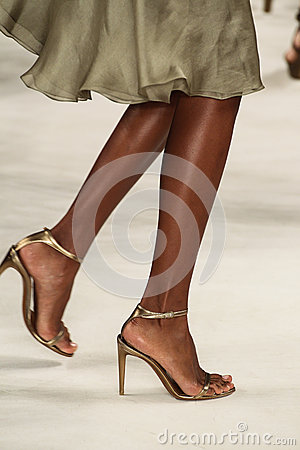 Free NEW YORK, NY - SEPTEMBER 11: A Model Walks The Runway At Ralph Lauren Spring 2015 Fashion Collection Stock Photo - 46530070