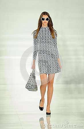 Free NEW YORK, NY - SEPTEMBER 12: A Model Walks The Runway At The Ralph Lauren Fashion Show Stock Image - 35850301