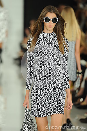 Free NEW YORK, NY - SEPTEMBER 12: A Model Walks The Runway At The Ralph Lauren Fashion Show Royalty Free Stock Photos - 35850308