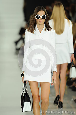 Free NEW YORK, NY - SEPTEMBER 12: A Model Walks The Runway At The Ralph Lauren Fashion Show Royalty Free Stock Photo - 35850345