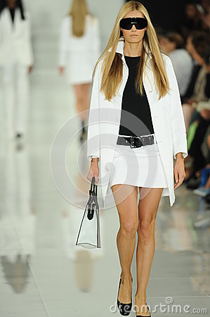 Free NEW YORK, NY - SEPTEMBER 12: A Model Walks The Runway At The Ralph Lauren Fashion Show Royalty Free Stock Photos - 35850348