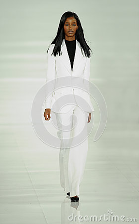 Free NEW YORK, NY - SEPTEMBER 12: A Model Walks The Runway At The Ralph Lauren Fashion Show Royalty Free Stock Images - 35850349