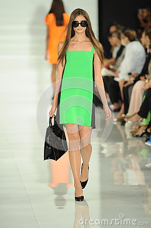 Free NEW YORK, NY - SEPTEMBER 12: A Model Walks The Runway At The Ralph Lauren Fashion Show Royalty Free Stock Photos - 35850368