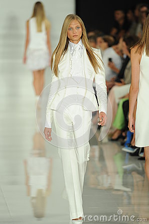 Free NEW YORK, NY - SEPTEMBER 12: A Model Walks The Runway At The Ralph Lauren Fashion Show Stock Photos - 35850613